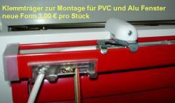 Klemmträger weiss zur Montage für PVC und ALU Fenster