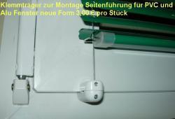 Klemmträger weiss für Seitenführung, für PVC und ALU Fenster