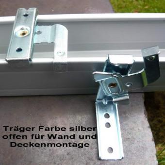 Montageträger offen für Ol. 51 x 57 mm Farbe silber