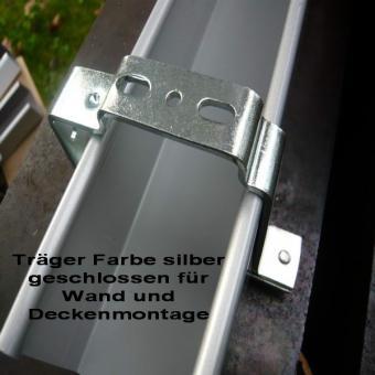 Montageträger geschlossen für Ol. 51 x 57 mm Farbe silber