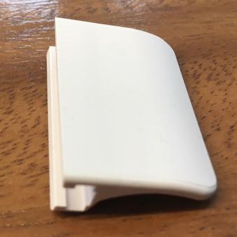 Plisseegriff 25 mm mit Halter Farbe weiss