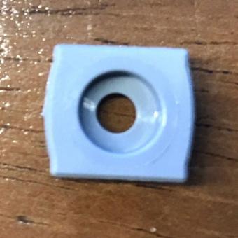 Premium Halteplatte mit Schraube mit Verdrehsicherung für Spannschuhmontage Farbe grau