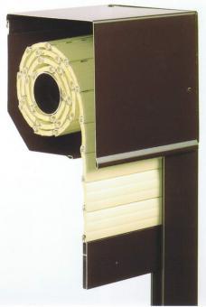 Premium Rolladen Fertigelement, Kasten Führungsschienen und Aluminium Panzer Farbe silber, fertig konfektioniert nach Maß