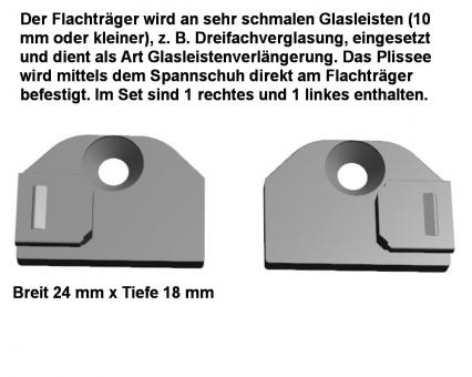 Glasleistenverlängerung Set je ein rechtes und linkes Farbe weiss