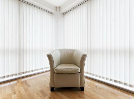 Vertikal Jalousie nach Maß 50 cm x 180 cm Farbe weiss