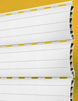 zuschnitt rolladen pvc profil 56 mm 2 8 meter farbe grau wei beige f ldessy sonnenschutzsysteme. Black Bedroom Furniture Sets. Home Design Ideas