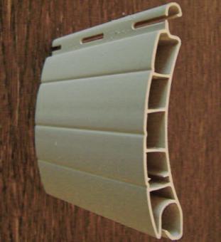 zuschnitt rolladen pvc profil 56 mm 2 0 meter farbe grau wei beige f ldessy sonnenschutzsysteme. Black Bedroom Furniture Sets. Home Design Ideas