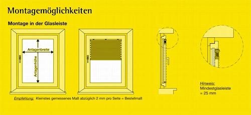Bevorzugt Plissee Montagemöglichkeiten | FÖLDESSY Sonnenschutzsysteme WZ25